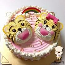 【雄爸客製化造型蛋糕】巧虎哥與小花妹