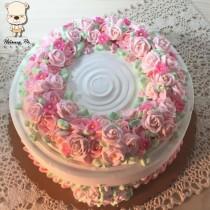 【婚禮蛋糕客製】粉紅佳人8吋