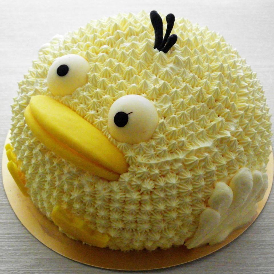 【雄爸手作客製化造型蛋糕】黃色俏皮小鴨