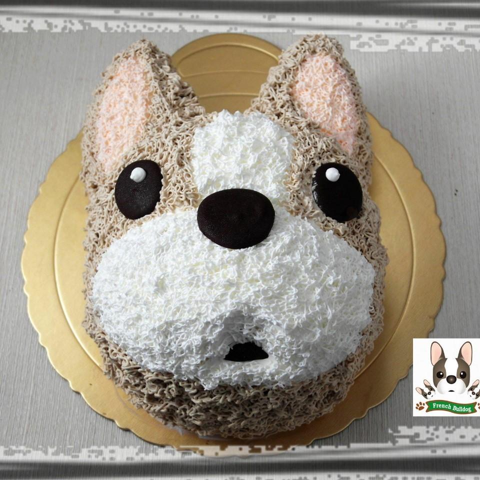 【雄爸手作客製化造型蛋糕】Q版鬥牛犬
