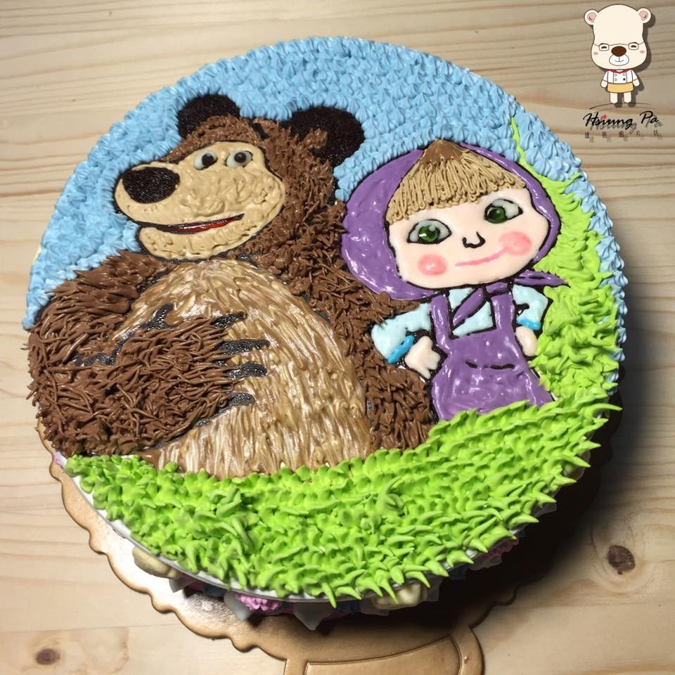 【雄爸手作客製化造型蛋糕】小女孩與熊