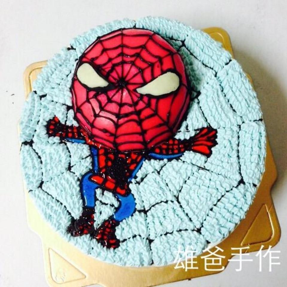 【雄爸手作客製化造型蛋糕】蜘蛛俠