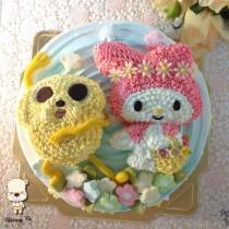 【雄爸手作客製化造型蛋糕】皮哥與蒂妹