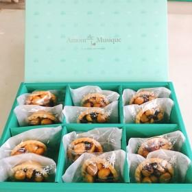 【雄爸人氣伴手禮】焦糖火山豆塔禮盒 12入裝(十盒免運)